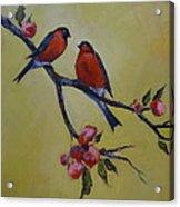 Love Birds Acrylic Print by Kelley Smith