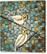 Love Birds- Warm Tone Acrylic Print