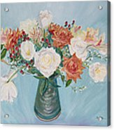 Love Bouquet In White And Orange Acrylic Print