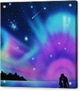 Love by the Aurora Borealis Acrylic Print