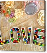 Love Candies Acrylic Print by Lars Ruecker