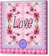 Love Cherry Blossom Acrylic Print