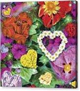 Love Flowers Garden Acrylic Print