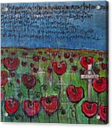Love For Flanders Fields Poppies Acrylic Print