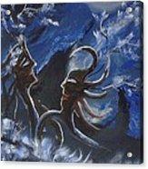 Love For Moon Light Acrylic Print