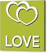 Love Green Acrylic Print