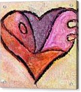 Love Heart 4 Acrylic Print