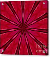 Love In An Orchid Kaleidoscope Acrylic Print