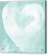 Love In Aqua Acrylic Print