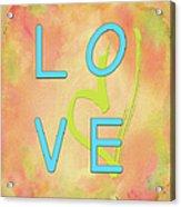 Love In Bright Blue Acrylic Print