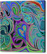 love in every shade of U v9     love in every shade of blue  Acrylic Print by Kenneth James