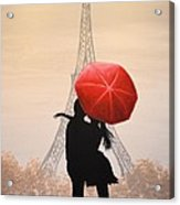 Love In Paris Acrylic Print