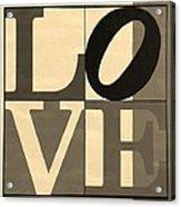 Love In Sepia Acrylic Print