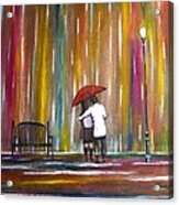 Love In The Rain Acrylic Print