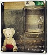 Love In The Trash Acrylic Print by Victoria Herrera