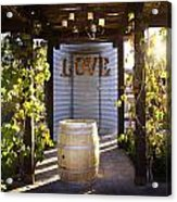 Love In The Vines Acrylic Print