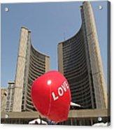 love in Toronto City Hall Acrylic Print