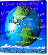 Love Is. . . . Acrylic Print