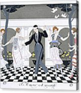 Love Is Blind Acrylic Print by Georges Barbier