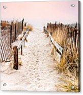 Love Is Everything - Footprints In The Sand Acrylic Print by Gary Heller
