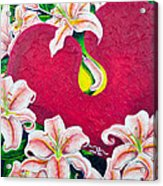 Love Is Flourishing Acrylic Print