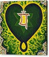 Love Is Spiritual Heart Chakra Acrylic Print
