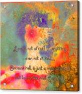 Love Is The Religion Acrylic Print