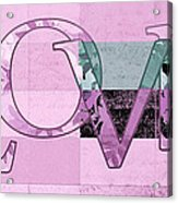 Love - J249115131t-grape Acrylic Print