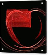 Love Letter Fine Fractal Art Acrylic Print by Georgeta  Blanaru
