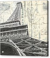 Love Letter From Paris Square Acrylic Print