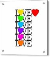 Love Love Love Acrylic Print