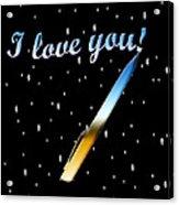 Love Message Digital Painting Acrylic Print