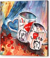 Love Mugs Acrylic Print