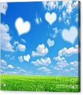 Love Nature Background Acrylic Print