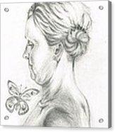 Loves- Her Butterflies Acrylic Print
