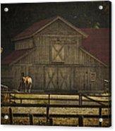 Love Of Country Vintage Art By Jordan Blackstone Acrylic Print by Jordan Blackstone