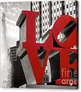 Love Acrylic Print by Olivier Le Queinec
