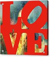 Love On Fire Acrylic Print