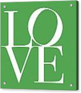 Love On Green Acrylic Print
