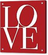 Love On Red Acrylic Print