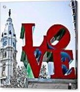 Love Park And City Hall Acrylic Print