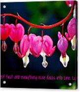 Love Quote Acrylic Print