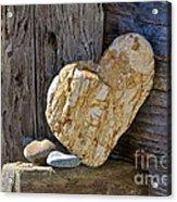 Love Rocks Acrylic Print