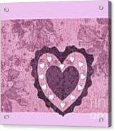 Love Series Collage - Heart 2 Acrylic Print