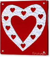 Love Series Collage - Heart 1a Acrylic Print