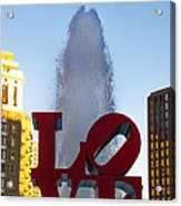 Love Statue In Philadelphia Pa Acrylic Print