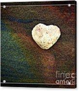 Love Stone - Framed Acrylic Print