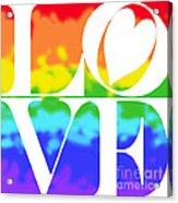 Love The Rainbow Acrylic Print