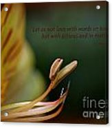 Love With Action Acrylic Print