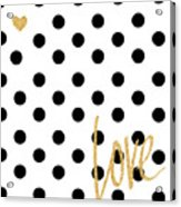 Love With Dots Acrylic Print